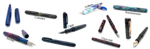 Available fountain pen styles.