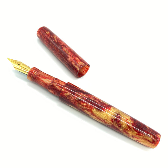 En Fuego Diamond Cast Custom Fountain Pen