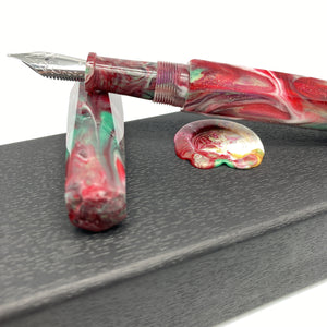 Red Ginger Lily Custom Fountain Pen