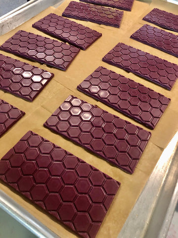 A photo of the blueberry lavender bars cooling