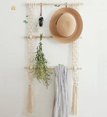 Boho Decor Macrame Wall Hanging Porch Rack