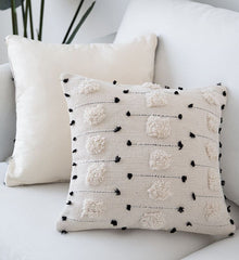 Negatives - White Black Geometric Pillow Cushion Cover