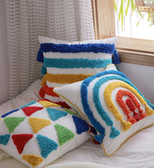 Pride - Rainbow Tassels Handmade Pillow Cover