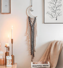 Moon Macrame  Dream Catcher Macrame Wall Hanging