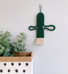 Cactus Macrame Wall Hanging Boho Decor
