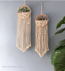 Macrame Wall Hanging Decor for Garden