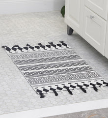 Black & White Handwoven Rug