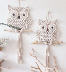 Nordic Style Owls Cotton Macrame