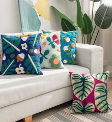 Florals & Leaf - Cushion Covers