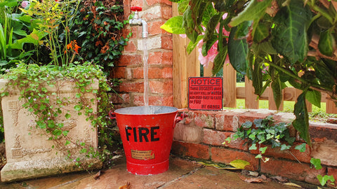 Vintage Fire Bucket Feature