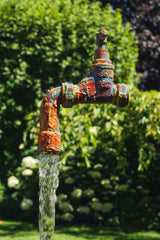 Unique Hand Painted Floating Tap & Pump