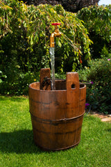 Authentic Antique Wooden Pail Gate Valve Feature