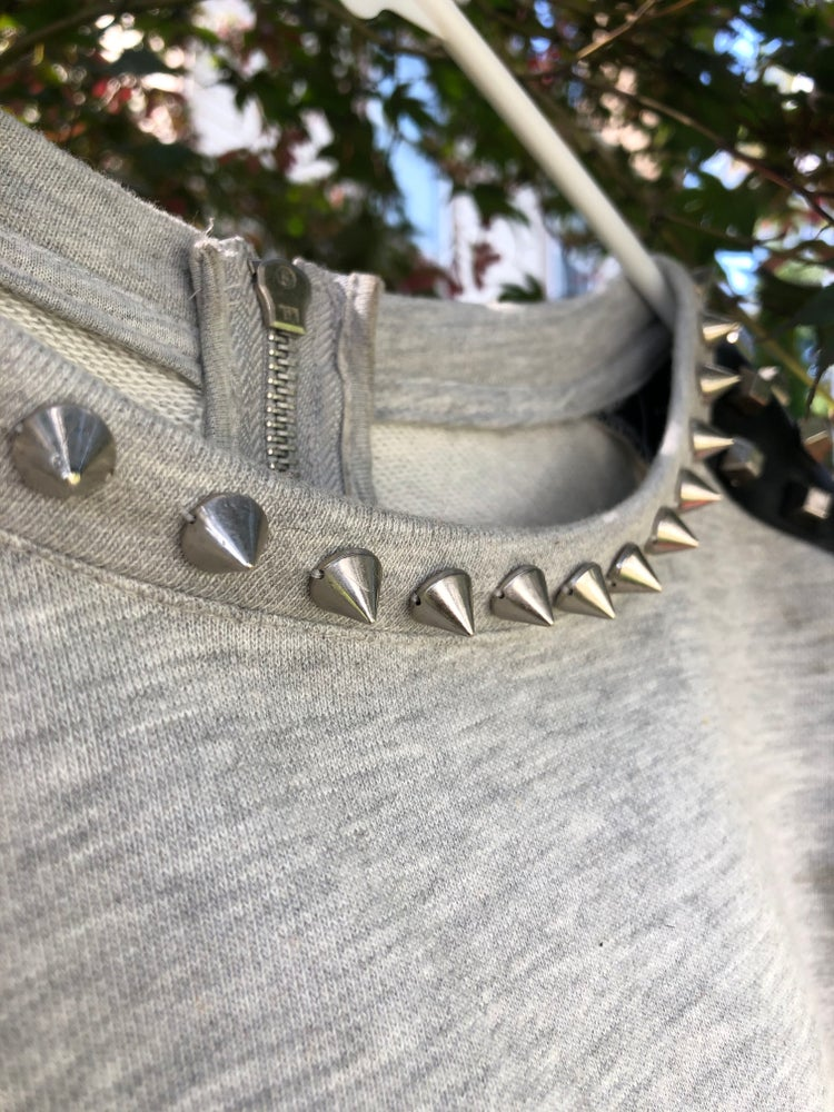 Sheridonna Designs: 2 Piece Grey Sustainable Top With Studs