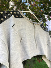 Load image into Gallery viewer, Sheridonna Designs: 2 Piece Grey Sustainable Top With Studs