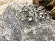"Load image into Gallery viewer, Sheridonna Designs : ""3 Tier Silver Glass Beads Earrings"""