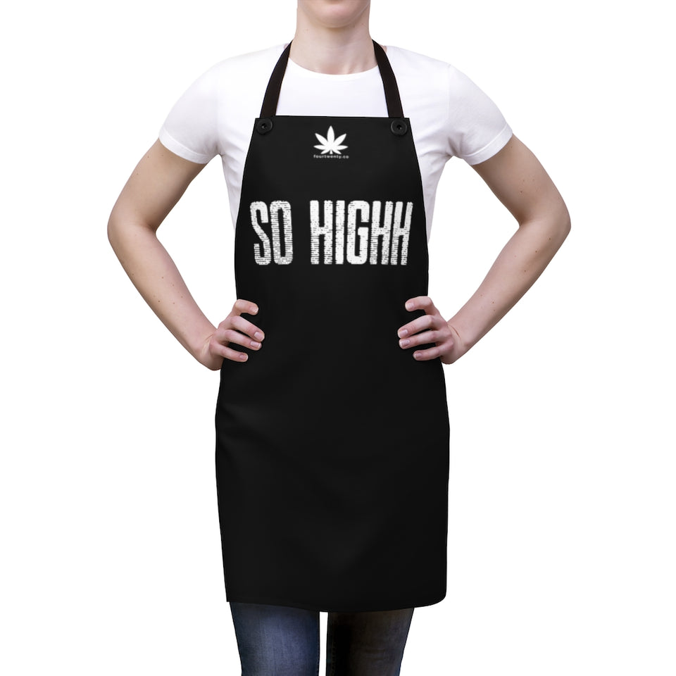 So Highh Black Apron