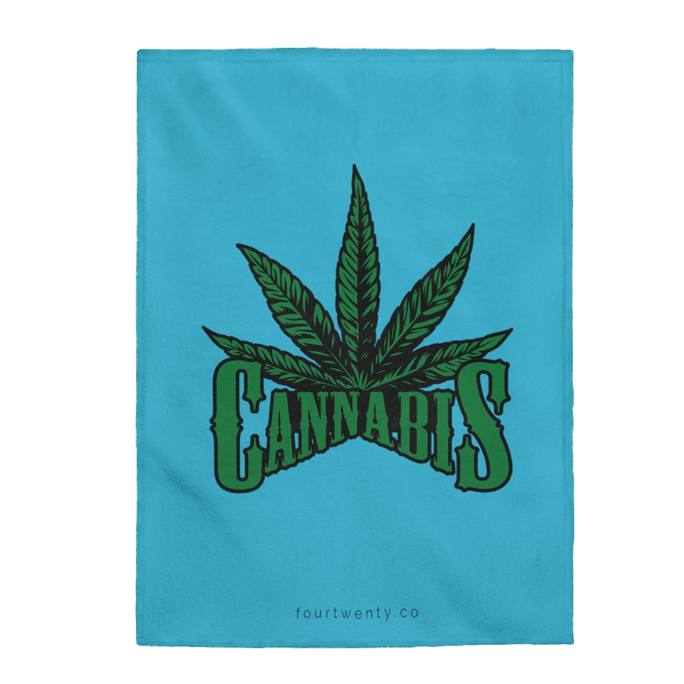 Cannabis Plush Blanket