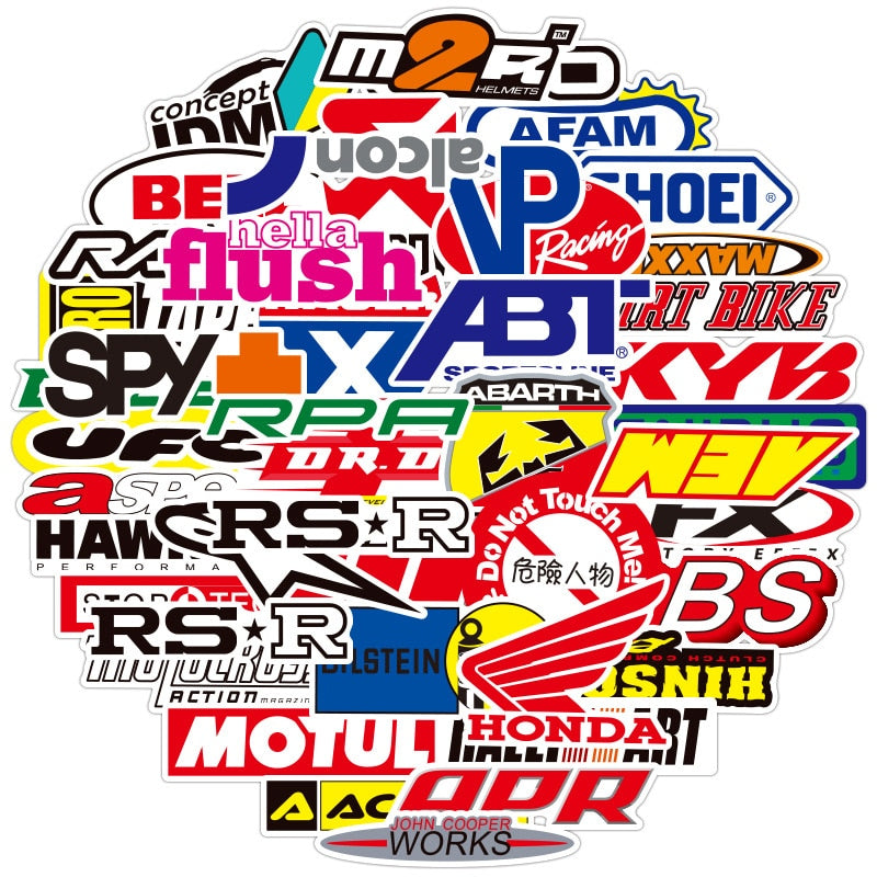Racing Graffiti Car Waterproof Stickers