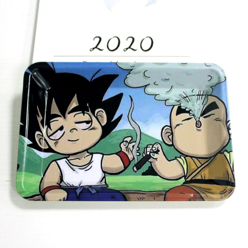 Anime Metal Graphic Designed Rolling Tray 7x5