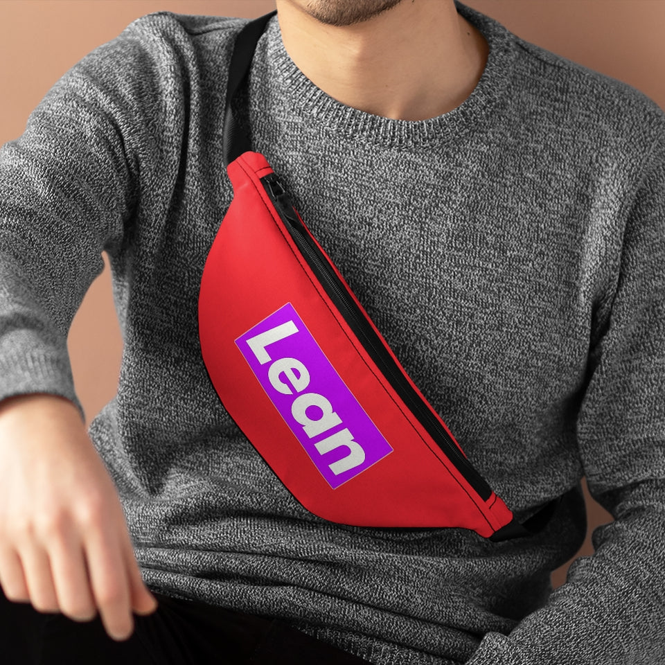 Red Lean Fanny Pack