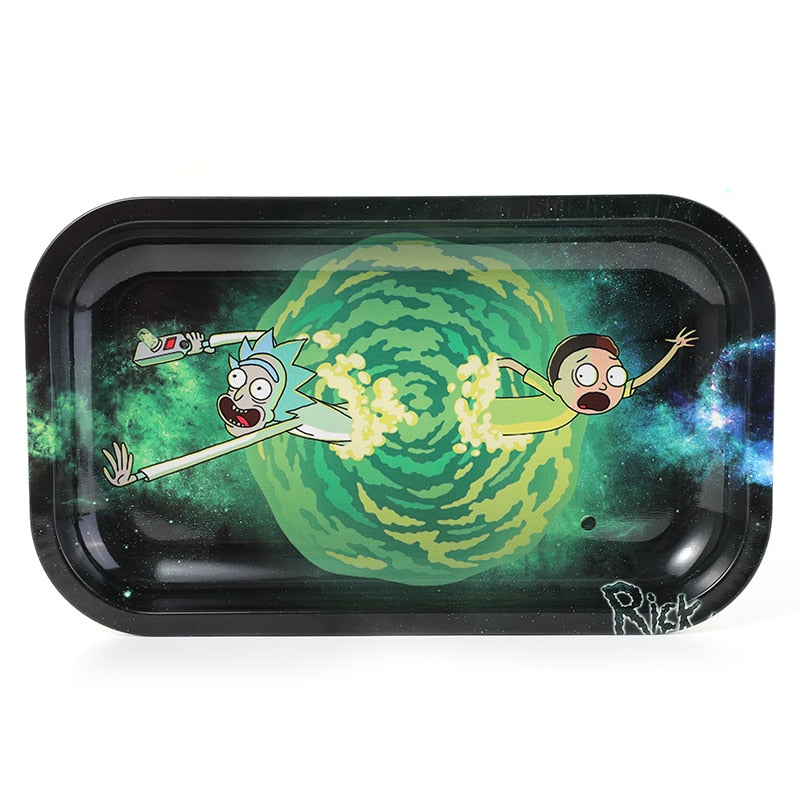 Stainless Steel Rick and Morty Rolling tray Varieties