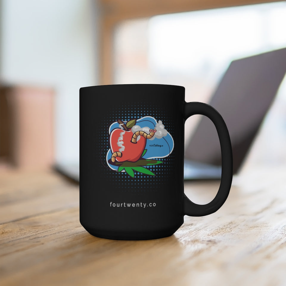 Worm Highh Black 15oz Mug
