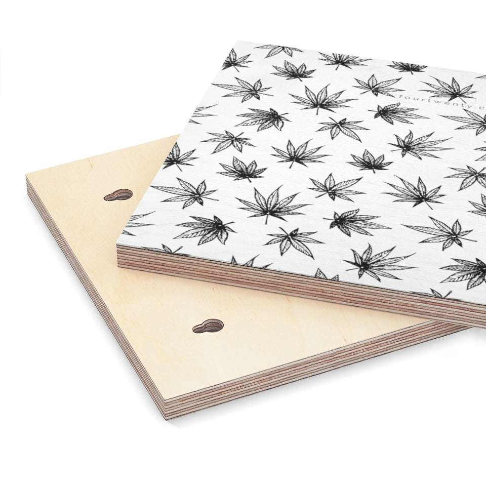 Raining Weed Wood Canvas