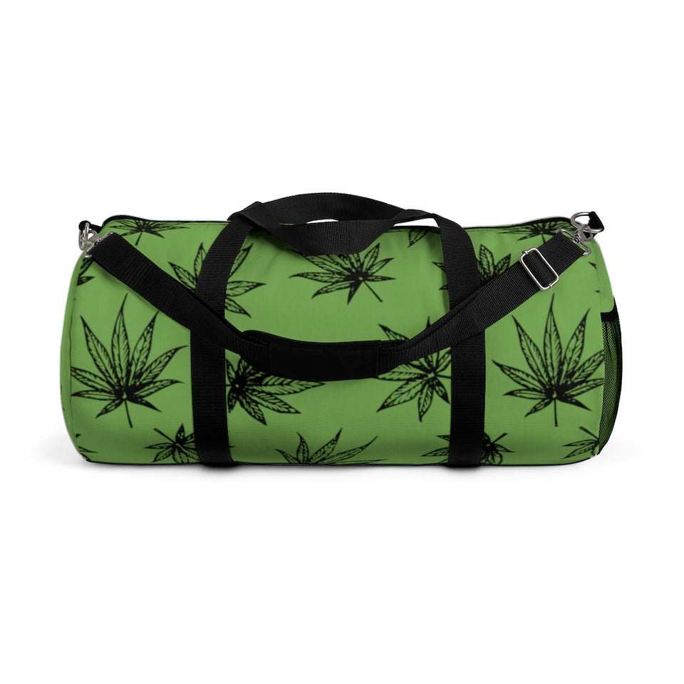Raining Weed Green Duffel Bag