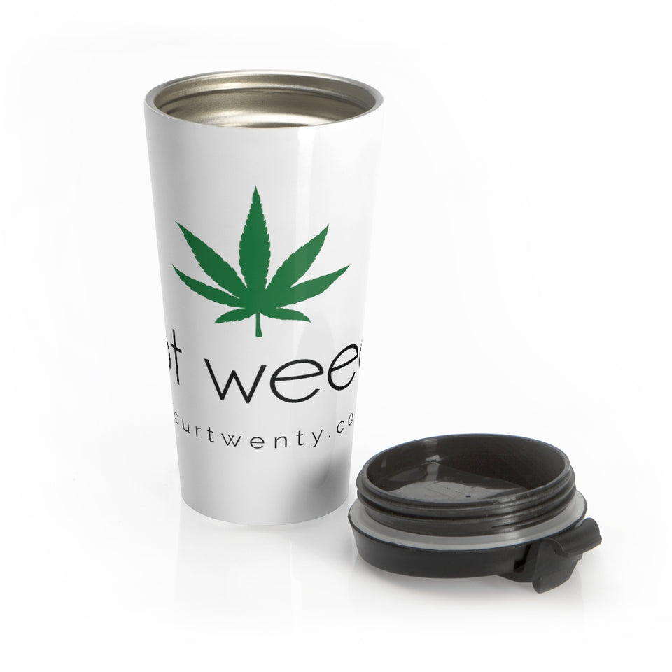 Got Weed White Travel Mug