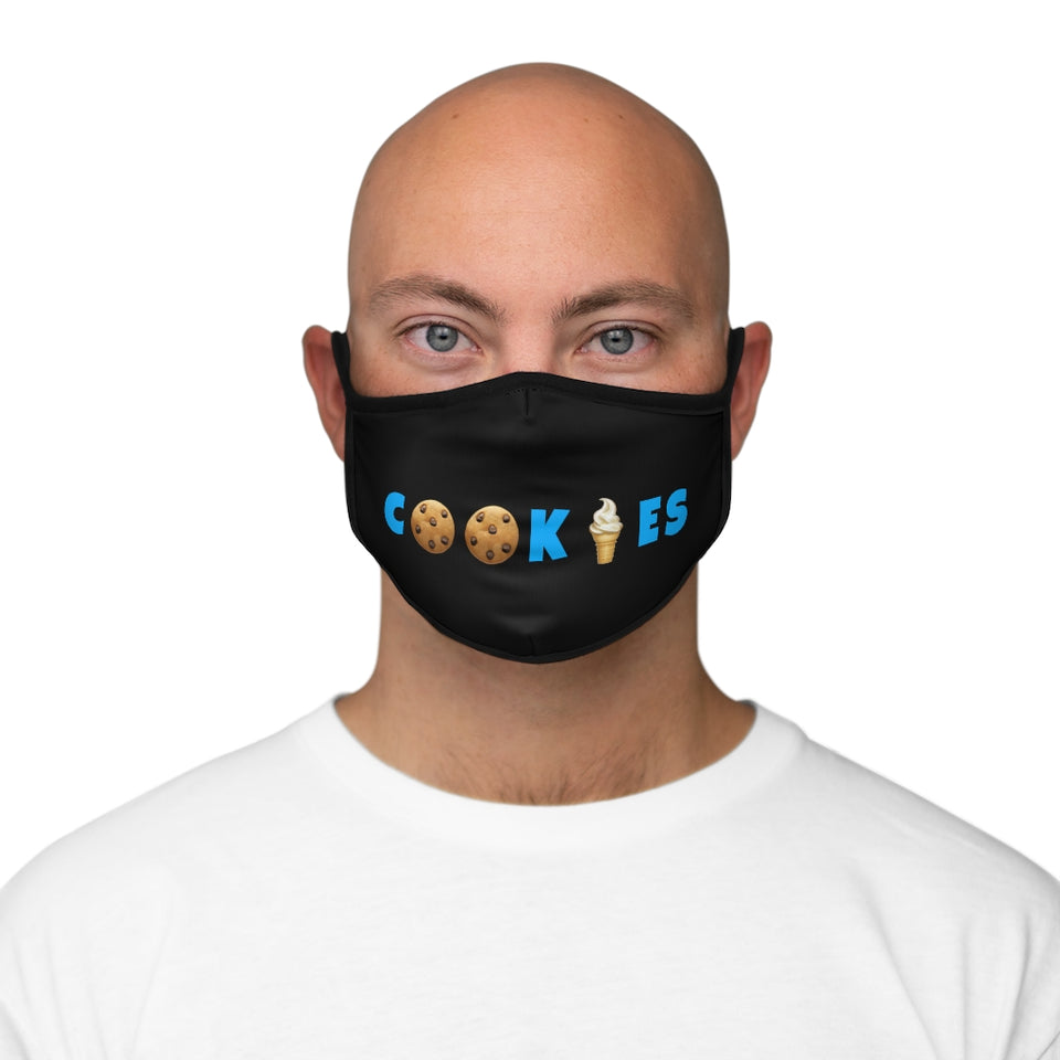 Cookies Black Fitted Face Mask