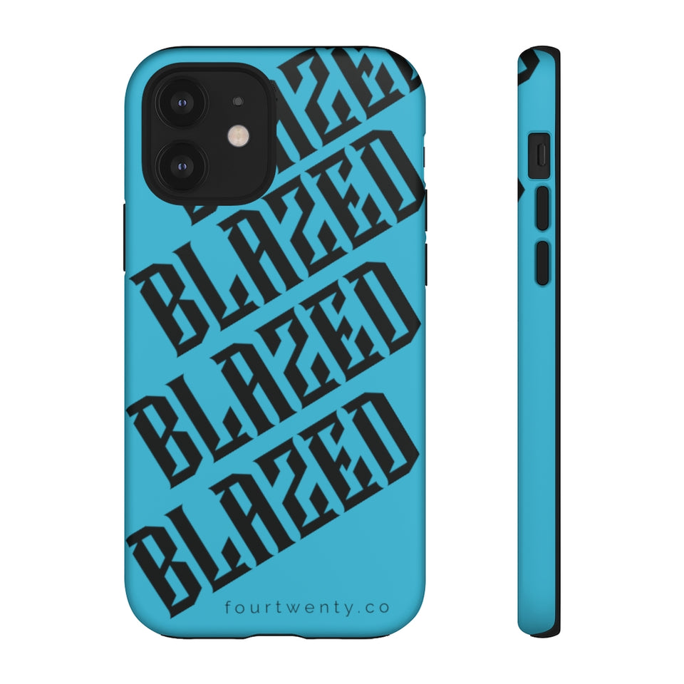Blazed Blue Phone Cases