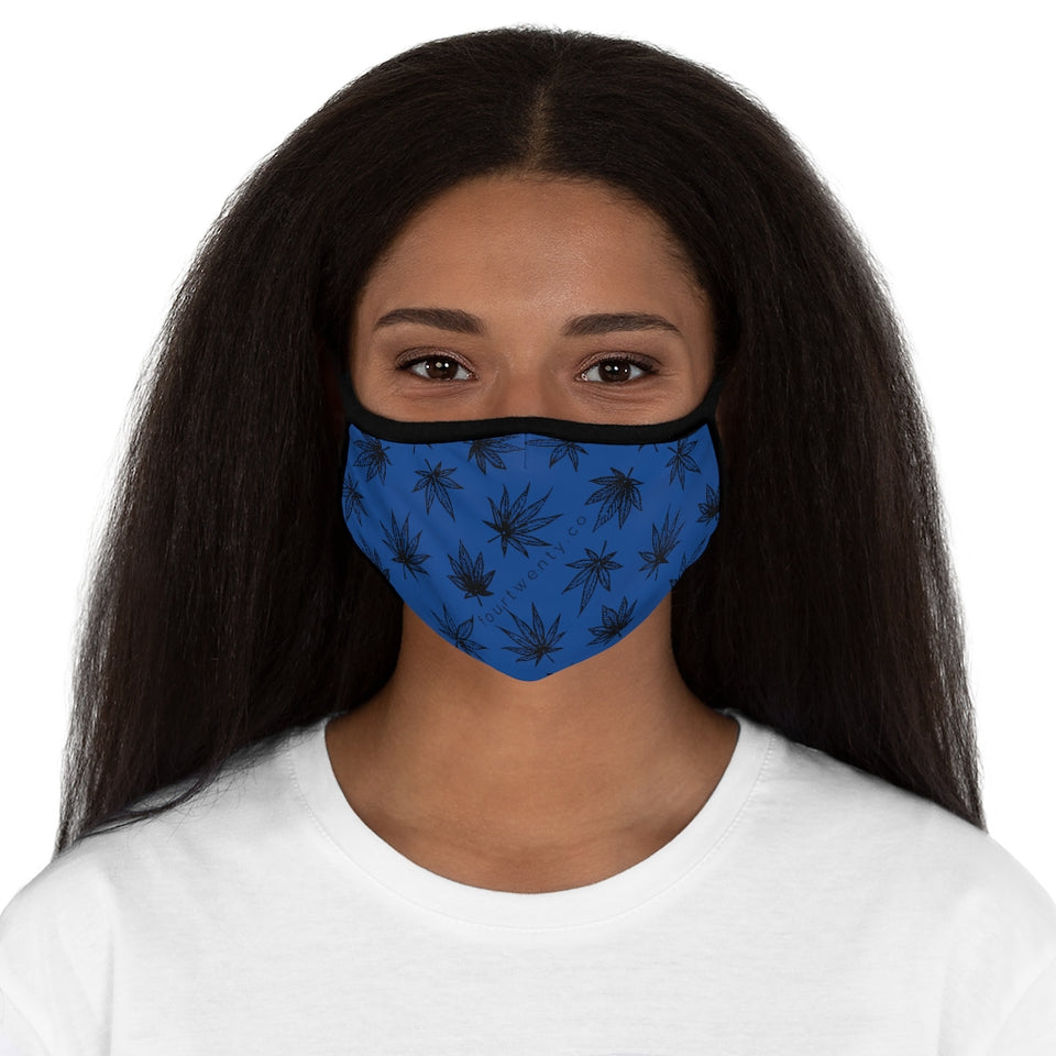 Raining Weed Blue Face Mask