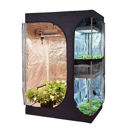 Growbox 2 in 1 600D Grow tent Complete kit
