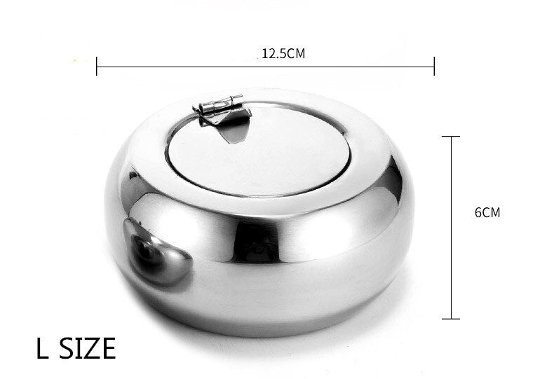 Round Stainless Steel Ashtray