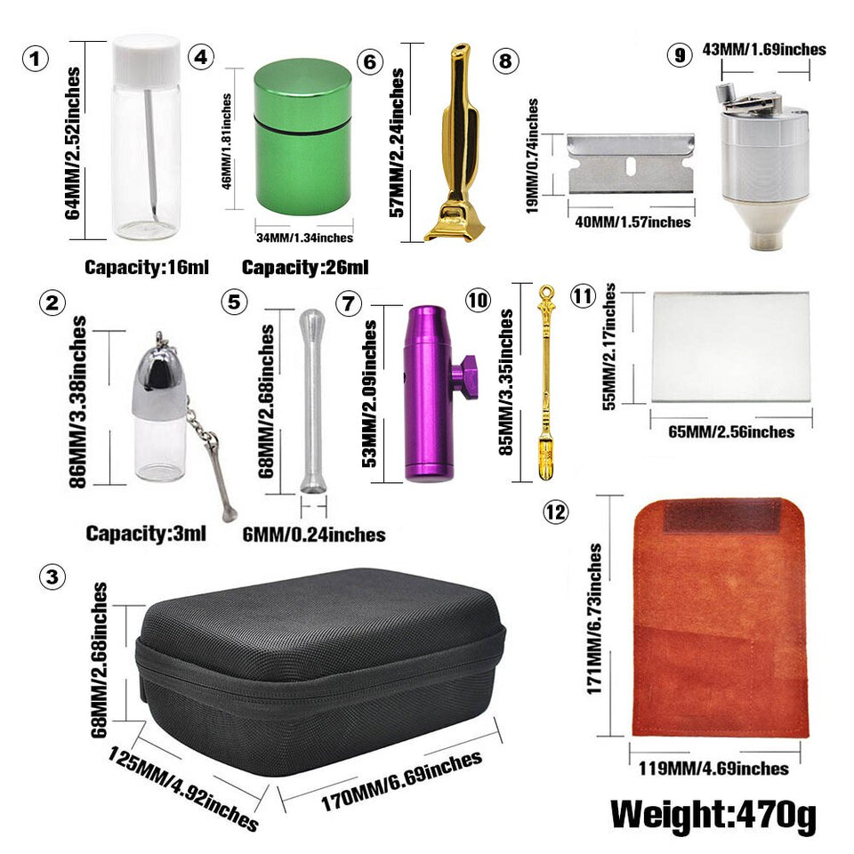 Smell proof Snuff bag Storage Kit & Case