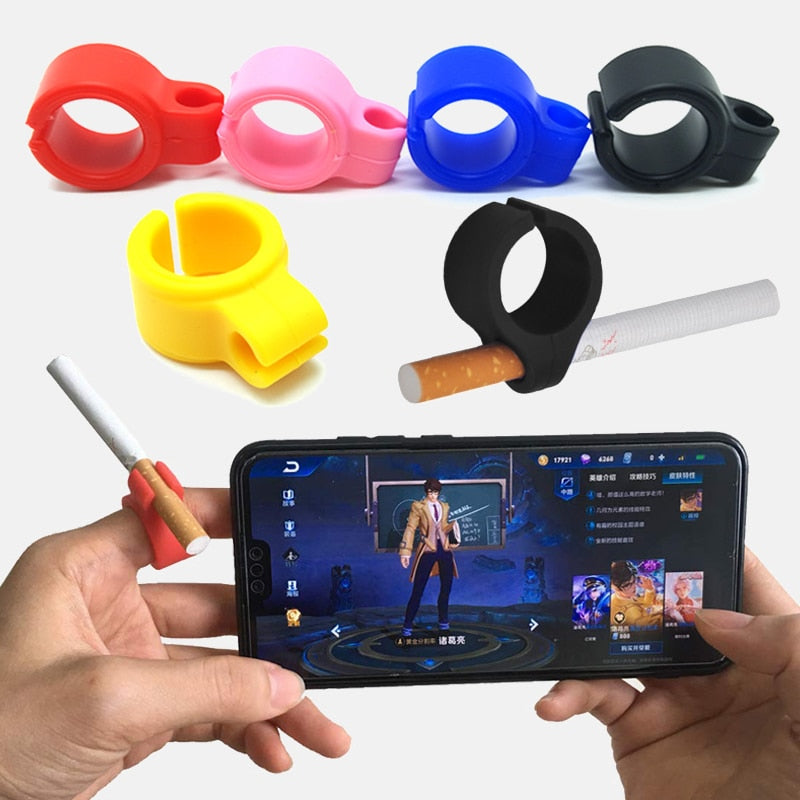 Waterproof Silicone Ring Finger Blunt Holder