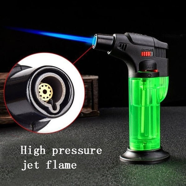 Refillable Butane Turbo Gas Lighter