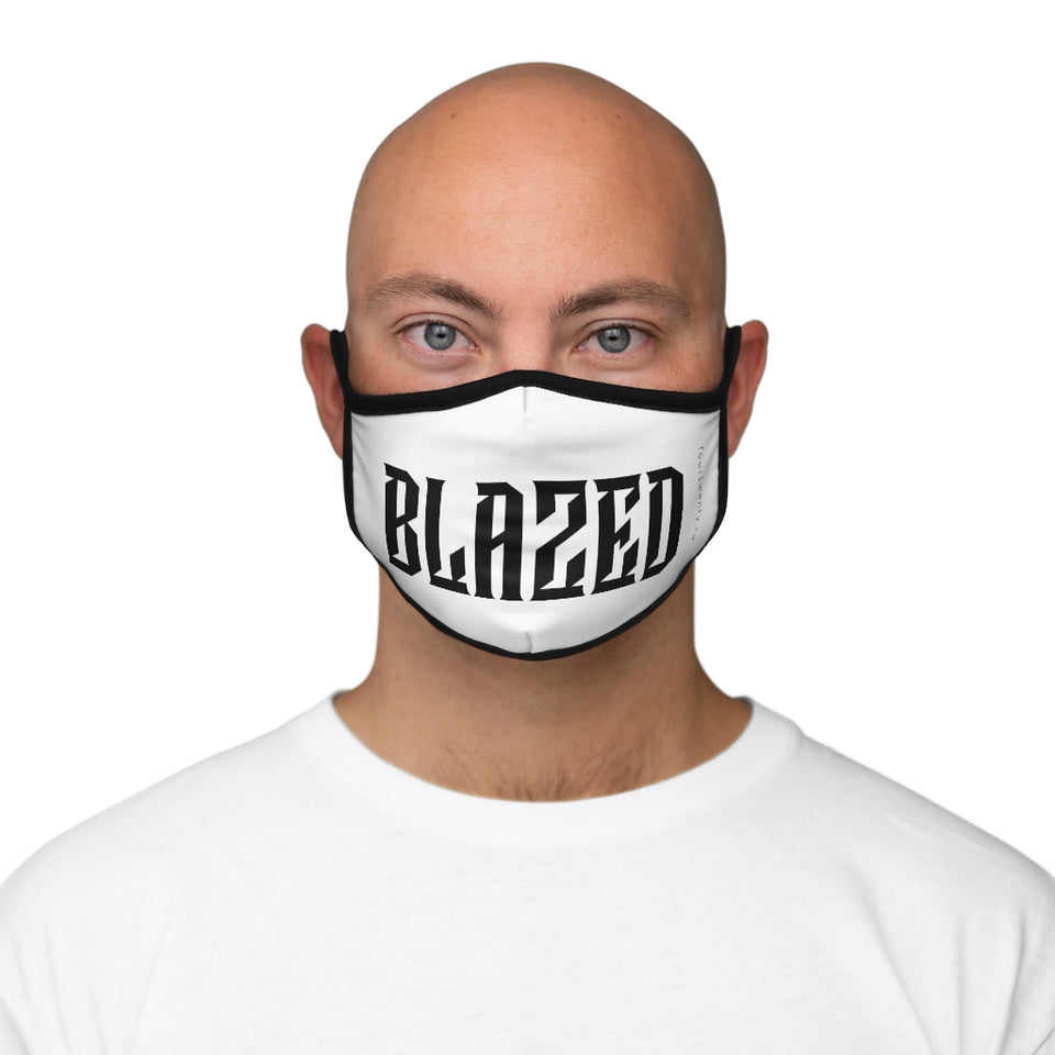 White Blazed Face Mask