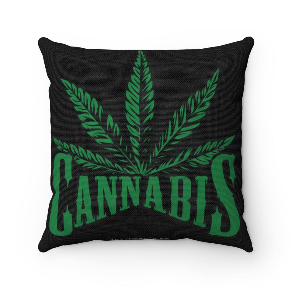 Cannabis Square Pillow