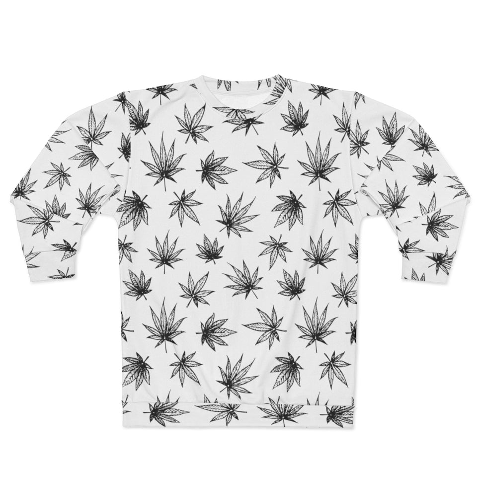Raining Weed White Sweatshirt
