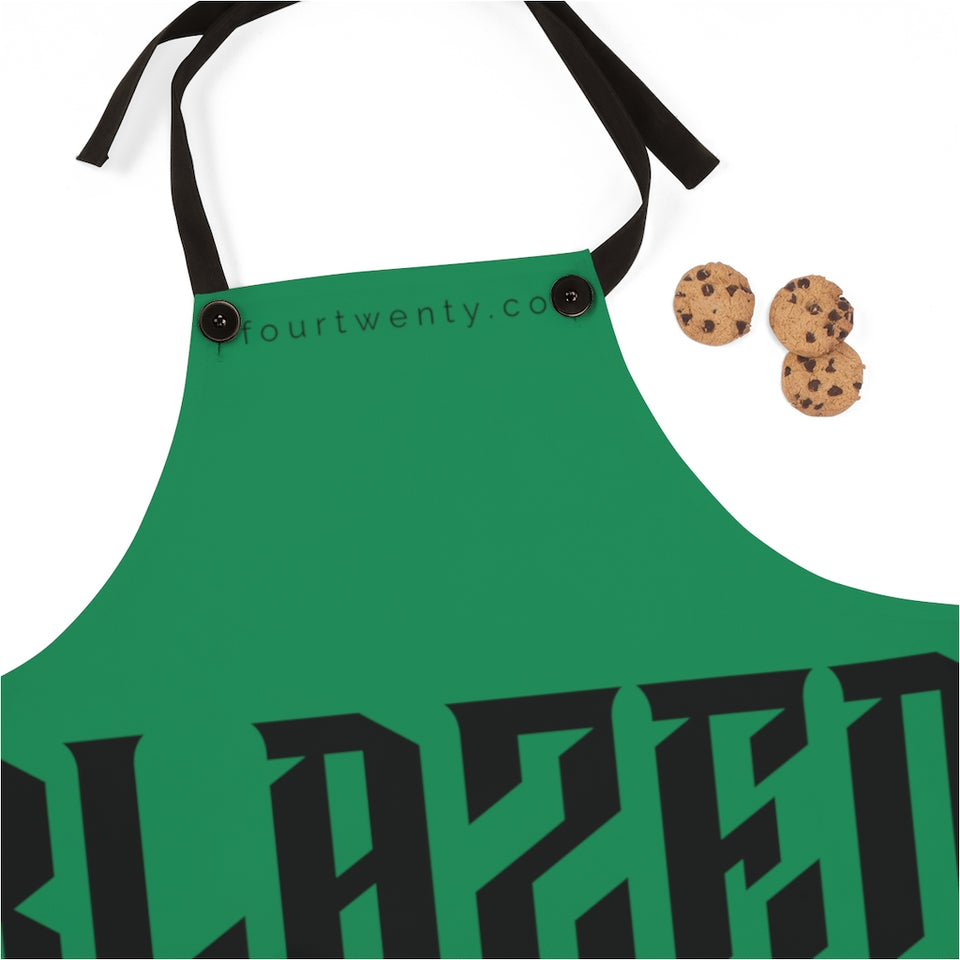 Green Blazed Apron