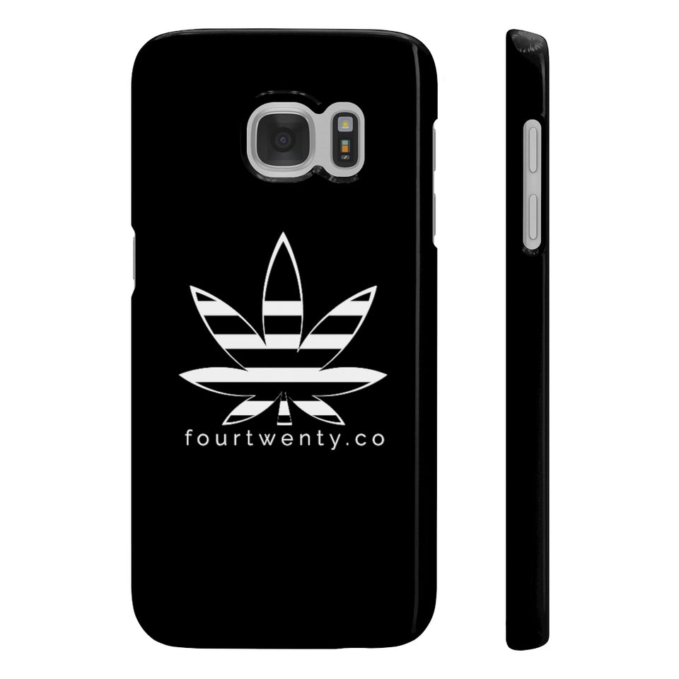 fourtwentyco Black Slim Phone Case