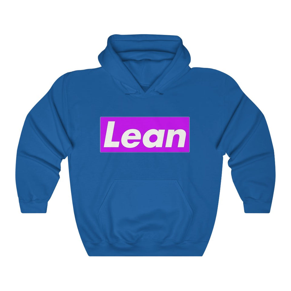 Purple Box Lean Hooded Sweatsh