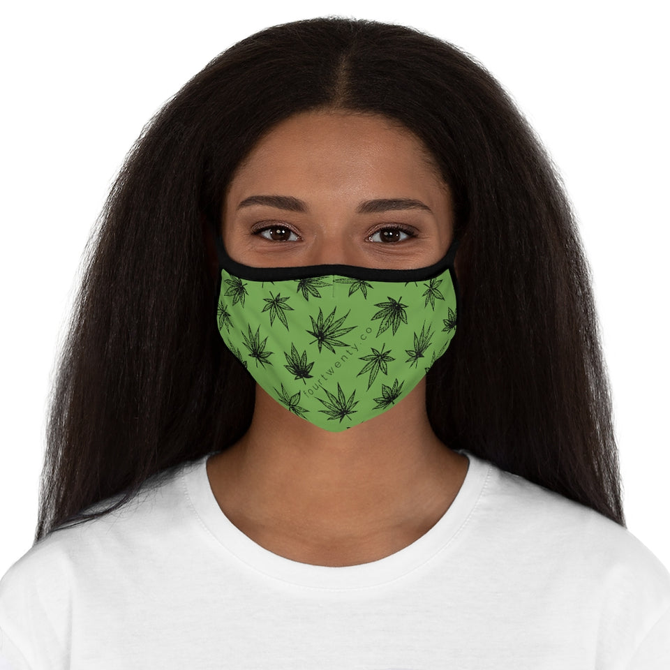 Raining Weed Green Face Mask