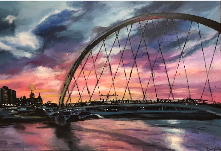 Women's Achievement Bridge Original Painting