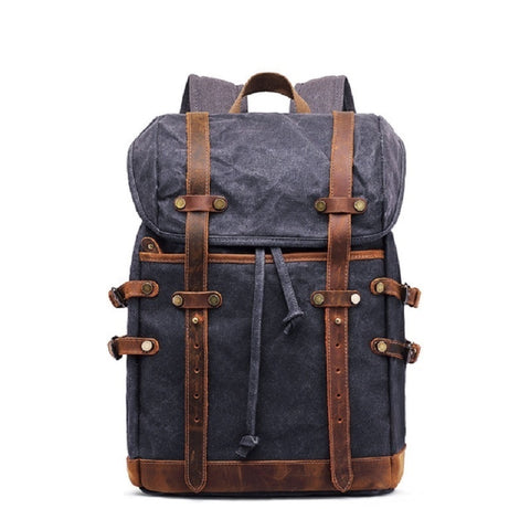Matteo Canvas Leather Backpack
