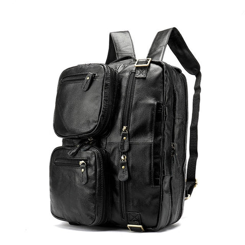 Darragh Leather Convertible Backpack