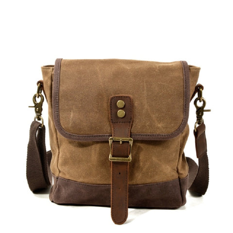 Merry Canvas Leather Satchel