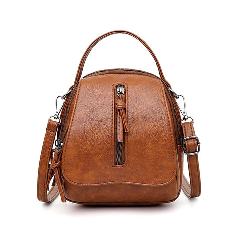 Andra Faux Leather Backpack