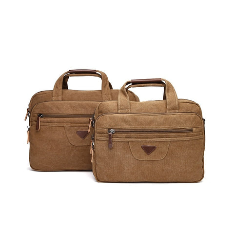 The Duke Canvas Briefcase